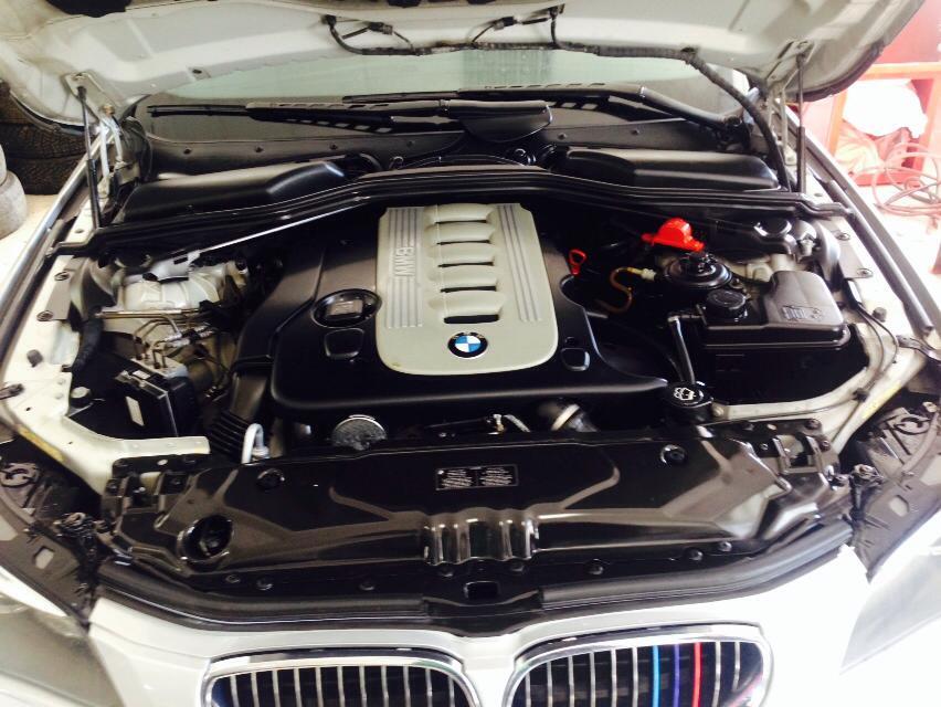 Detailing Motor BMW seria5 - dupa